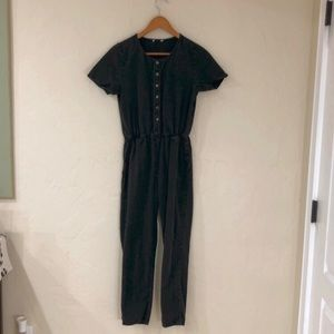 Hope Avenue Black button down jumpsuit